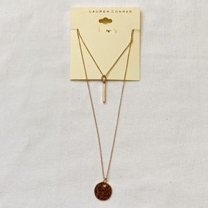 NWT Lauren Conrad Geometric Layer Necklace